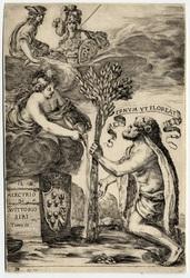 Frontispice pour le troisième volume du Mercurio de V. Siri