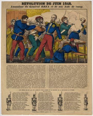 Révolution de juin 1848 : assassinat du général Bréa et de son aide de camp