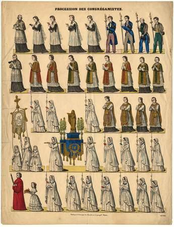 Procession des congréganistes