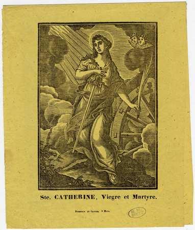Sainte Catherine vierge et martyre