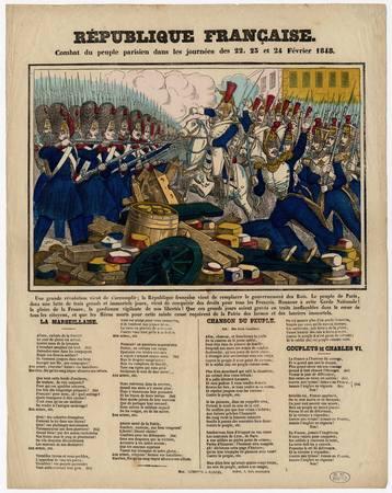 République française : combat du peuple parisien dans les journées des 22-…