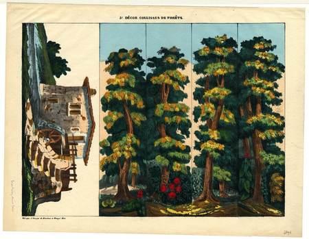 3° décor : coulisses de forêts
