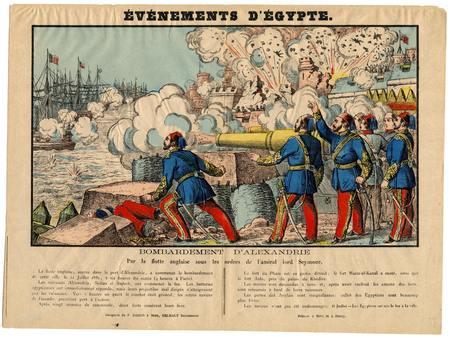 Evénements d'Egypte : bombardement d'Alexandrie par la flotte anglaise