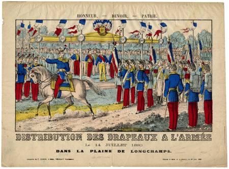 Honneur - devoir - patrie : distribution des drapeaux à l'armée