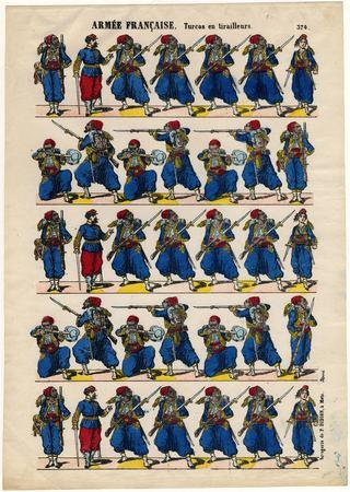 Armée française : turcos en tirailleurs