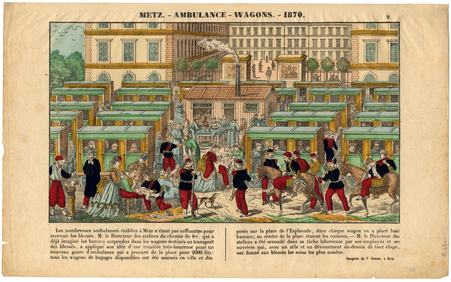 Metz : ambulance-wagons