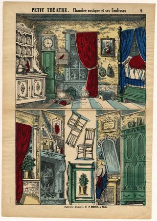Petit théâtre : chambre rustique et ses coulisses