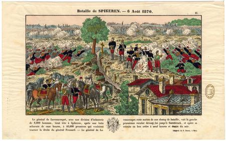 Bataille de Spikeren [Spicheren] : 6 août 1870