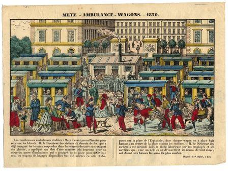 Metz : ambulance-wagons 1870