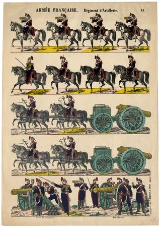 Armée française : régiment d'artillerie