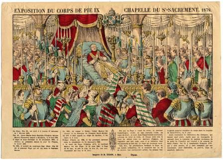 Exposition du corps de Pie IX chapelle du Saint-Sacrement : 1878