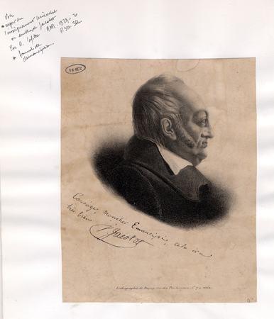 Portrait avec mention manuscrite