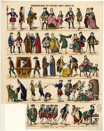 Personnages et scènes sous Louis XV