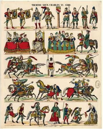 Tournoi sous Charles VI en 1380