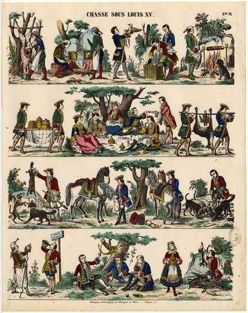 Chasse sous Louis XV