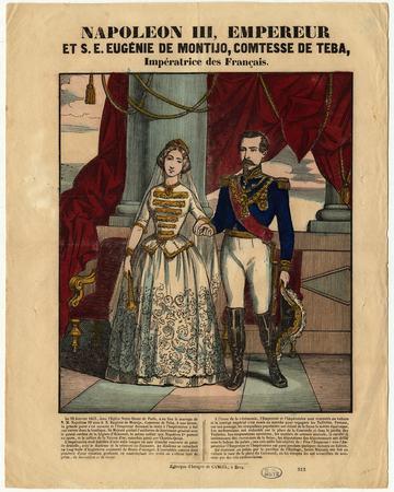 Napoléon III empereur et son épouse Eugénie de Montijo comtesse de Téba