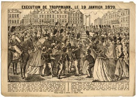 Exécution de Troppmann le 18 janvier 1870