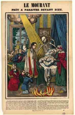 Le Mourant prêt à paraître devant dieu