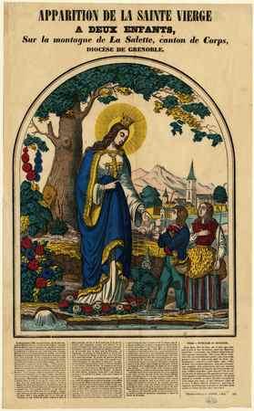 Apparition de la sainte vierge à deux enfants