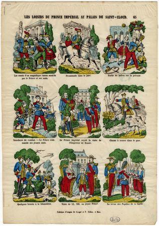 Les Loisirs du prince impérial au palais de Saint Cloud