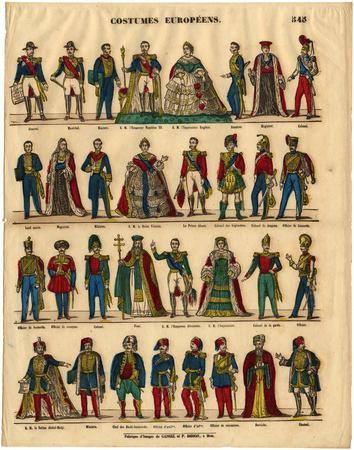Costumes européens