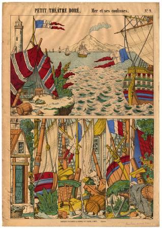 Petit théâtre doré : mer et ses coulisses