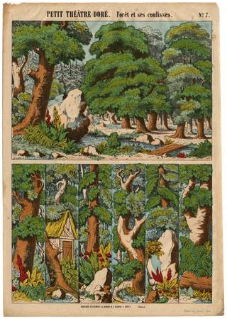 Petit théâtre doré : forêt et ses coulisses