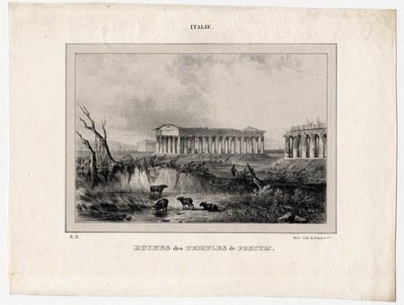 Italie : ruines des temples de Pestum