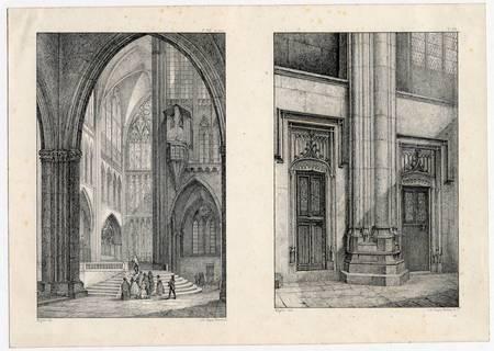 [2 intérieurs de cathédrale à partir de dessin de Migette]
