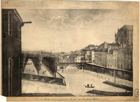 Metz : vue du Jardin d'amour prise du pavillon des pucelles
