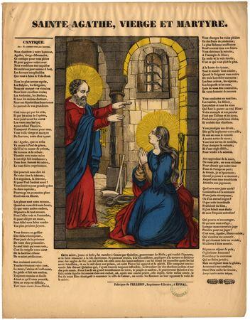 Sainte Agathe : vierge et martyre