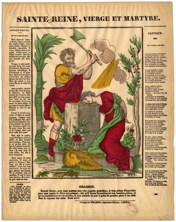 Sainte Reine : vierge et martyre
