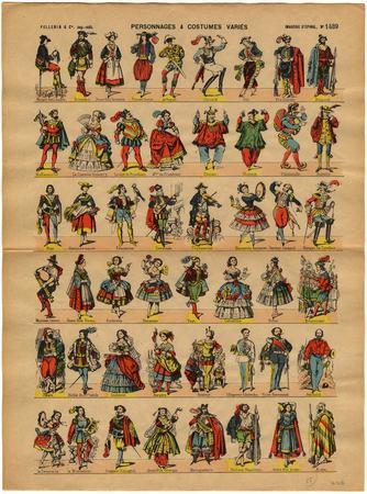 Personnages et costumes variés