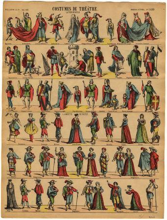 Costumes de théâtre : la Tour de Nesle