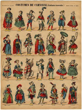 Costumes de carnaval : enfants travestis