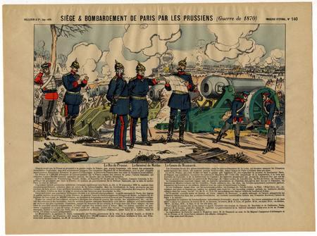 Siège & bombardement de Paris par les Prussiens (Guerre de 1870)