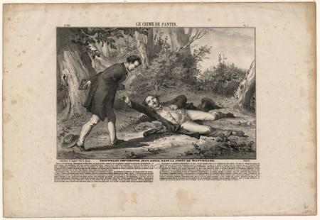 Le crime de Pantin, Troppmann empoisonne Jean Kinck dans la forêt de Wattw…