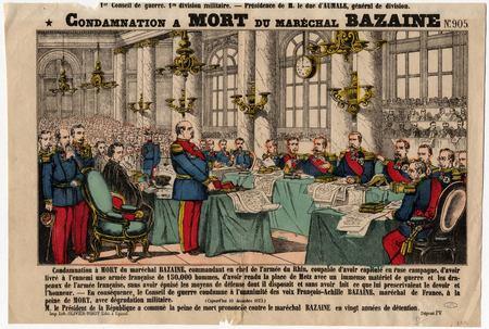 Condamnation à mort du Maréchal Bazaine
