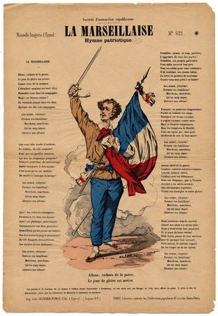 La Marseillaise hymne patriotique. Société d'instruction républicaine