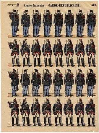 Armée française. Garde Républicaine
