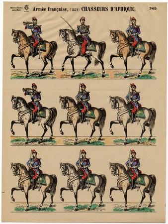 Armée française, (1870) Chasseurs d'Afrique