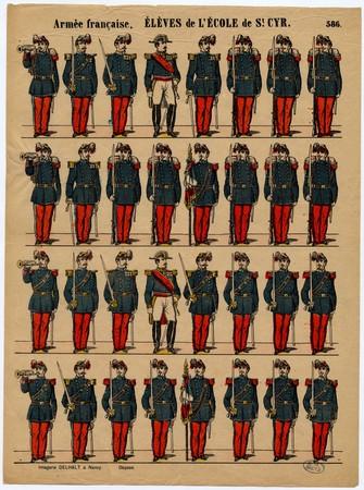 Armée française, Elèves de l'Ecole de St Cyr