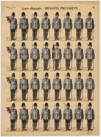 Armée allemande. Dragons prussiens
