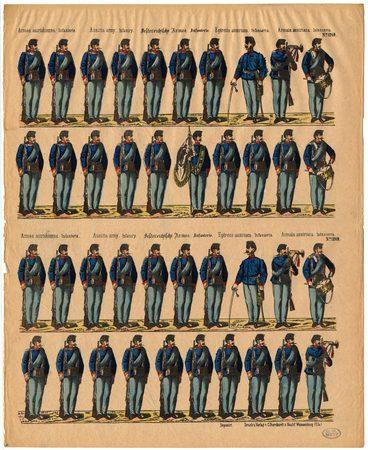 Armée autrichienne. Infanterie – Austria army. Infantry – Oestereichische …