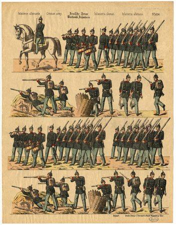 Deutsche Armee. Württemb. Infanterie – Infanterie allemande – German army …