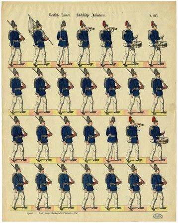 Deutsche Armee. Sächsische Infanterie