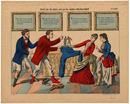 Streit um die Hosen und um die eheliche Oberherrschaft