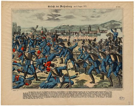 Gefecht bei Weissenburg am 4. August 1870