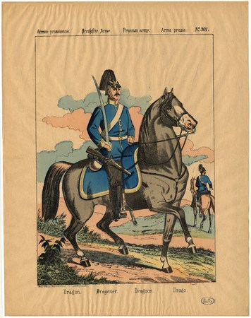 Armée prussienne. Dragon – Preussische Armee. Dragoner – Prussian army. Dr…