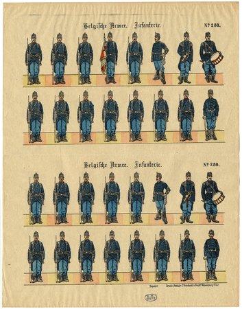 Belgische Armee. Infanterie